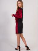 велюровое платье с кулоном 2666