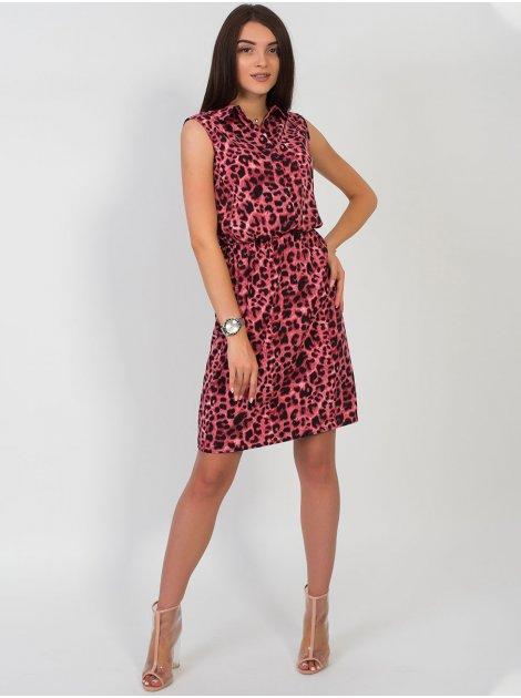 Платье на резинке с анималистическим принтом 2722