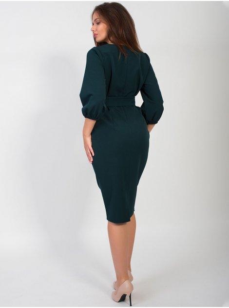 Платье size+ с красивой вышивкой и поясом 2668