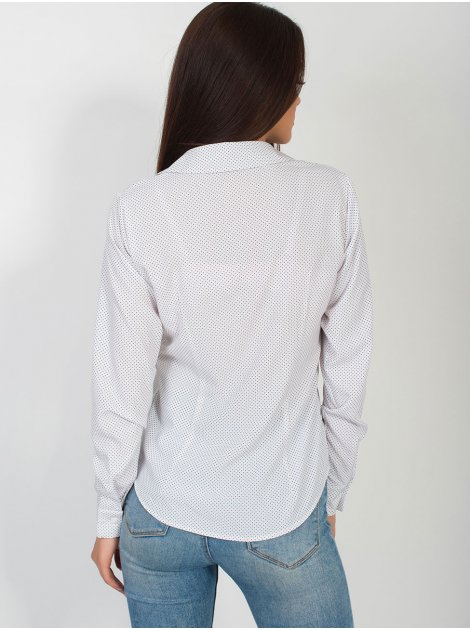 Блуза в мелкий горошек 2810