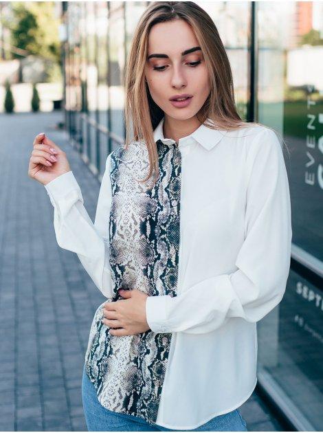 Блуза с принтом под кожу змеи 2839