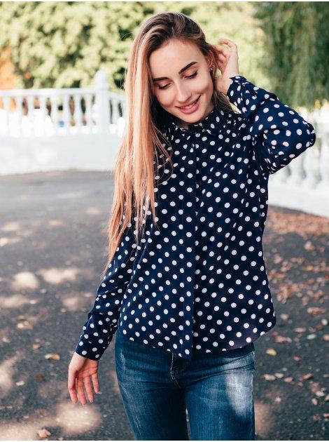 Блуза в горошек 2759