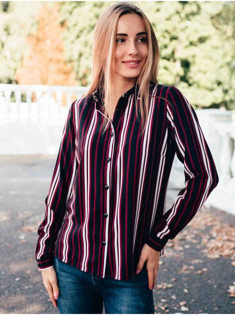 Блуза в вертикальную полоску 2832