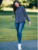 Стильная блуза в полоску 2801