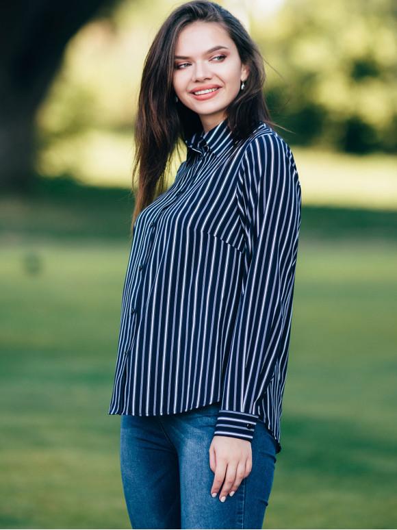 Стильна блуза в смужку 2801