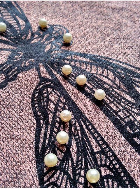 платье на кулиске с принтом и бусинками. Арт.2175