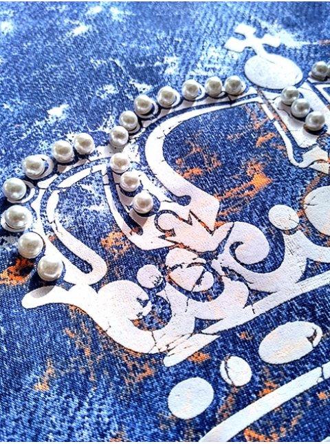"""Рубашка с принтом """"джинс"""". арт.1906"""