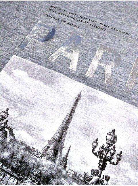 """Трикотажная кофта с принтом """"Paris"""". Арт.2094"""