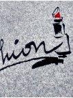 Свитер из мягкой ткани с надписью. Арт.2152