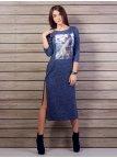Длинное платье с боковыми разрезами. Арт.2045