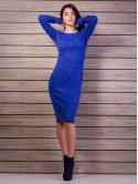 Трикотажное платье футляр, длина миди. Арт.2129