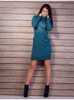 Платье  с карманами, воротник с отворотом. Арт.2126