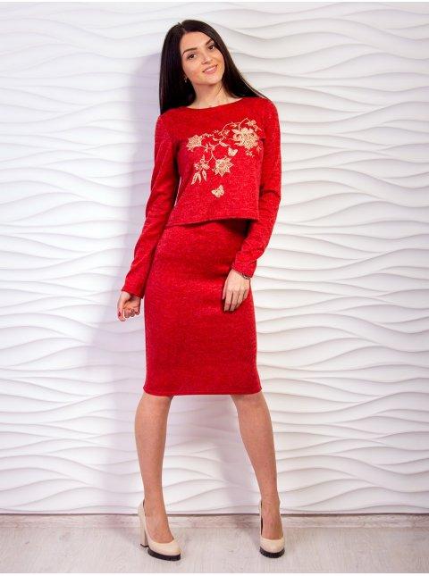 Комплект: Кофта с вышивкой + юбка. Арт.2149