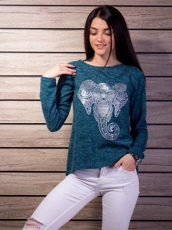 """Мягкая кофта с принтом """"Слон"""". Арт.2112"""