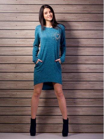 Платье из трикотажа с ассиметричным низом. Арт.2138