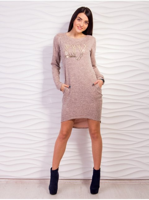 Платье из трикотажа с карманами. Арт.2127