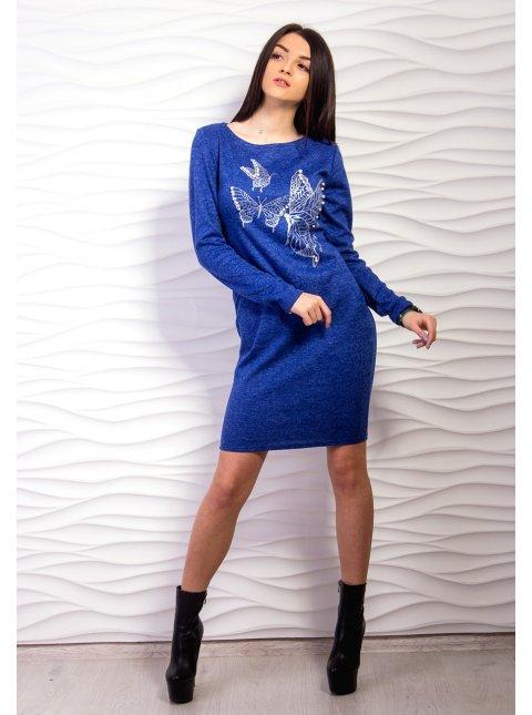 Платье средней длины с рисунком. Арт.2159