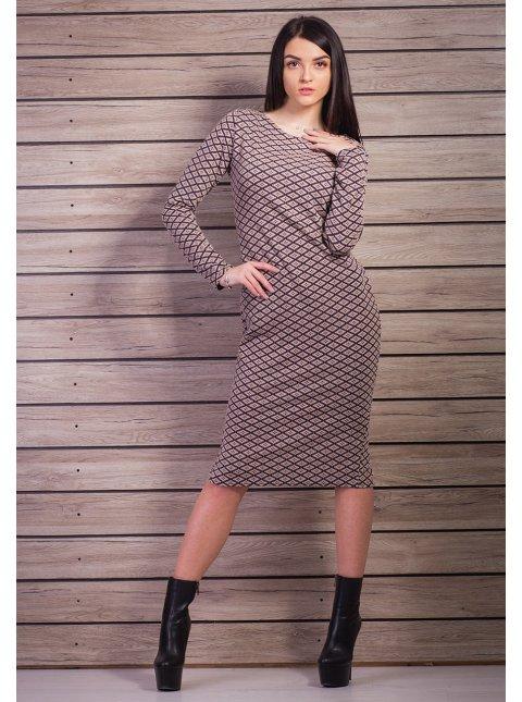 Длинное трикотажное платье. Арт.2155