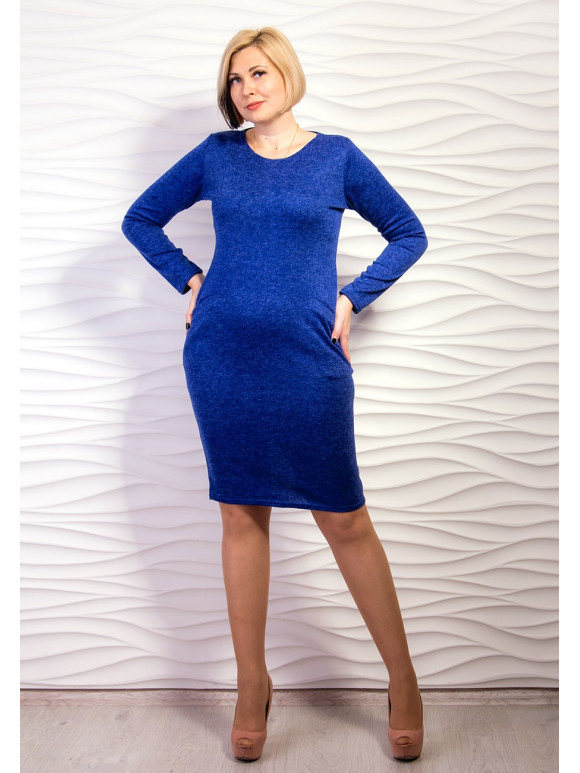 Платье из трикотажа средней длины. Арт.2156