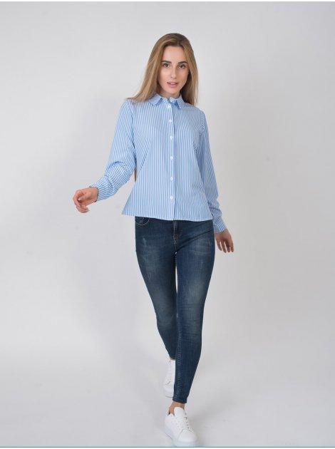 Блуза в вертикальную полоску 2802
