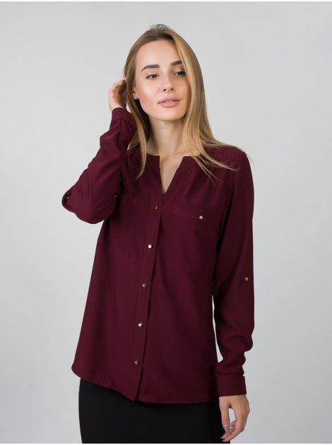 Стильная блуза с золотыми пуговицами 2781