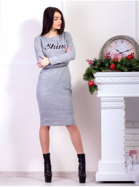 Приталенное платье с длинным рукавом. Арт.2164