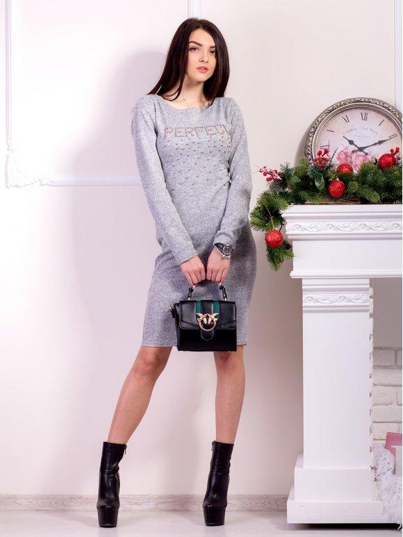 Платье средней длины с бусинками. Арт.2165