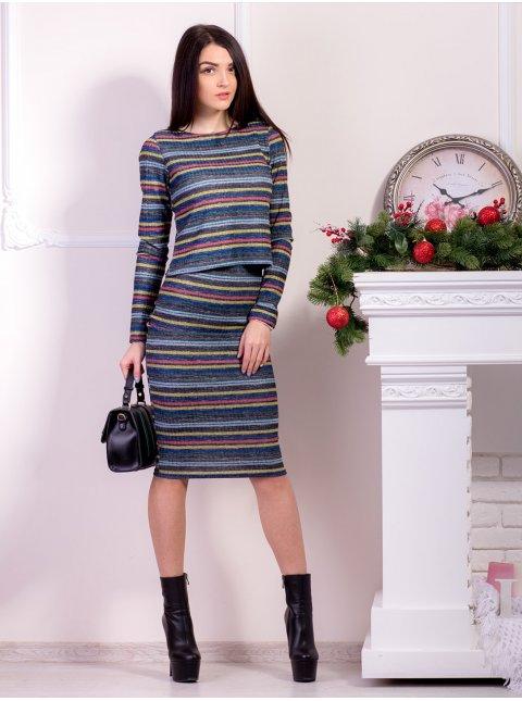 Костюм: Кофта+юбка-карандаш длины миди. Арт.2006.1