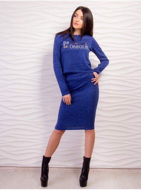 Мягкий костюм из ангоры: кофта+юбка. Арт.2168