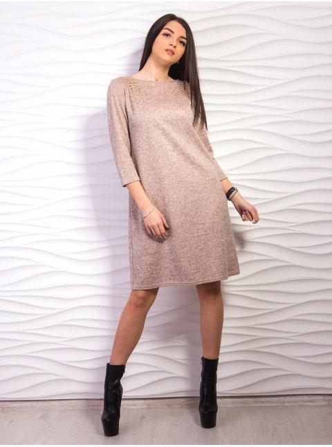 Платье свободного кроя с жемчужинами. Арт.2169