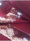 Комплект: кофта + юбка, декорированные вставками из двухсторонних пайеток. Арт.2395