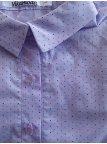 Хлопковая блуза с принтом с длинным рукавом. Арт.2441