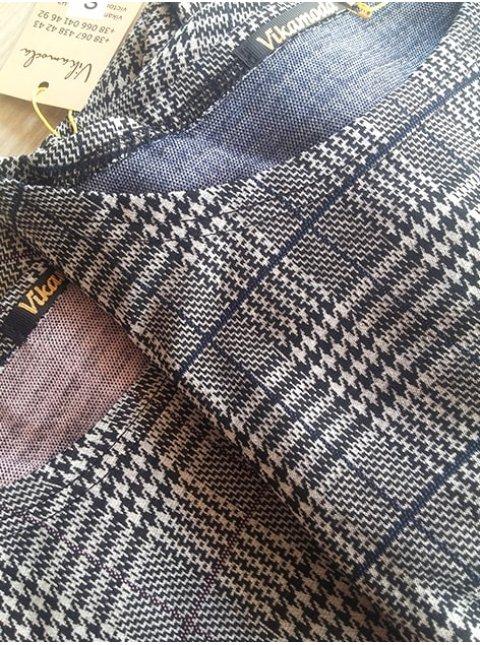 Клетчатое платье с расклешенной юбкой и карманами. Арт.2444