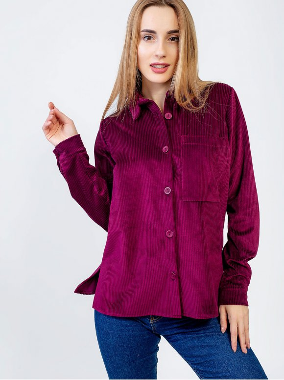Стильная вельветовая рубашка 2932