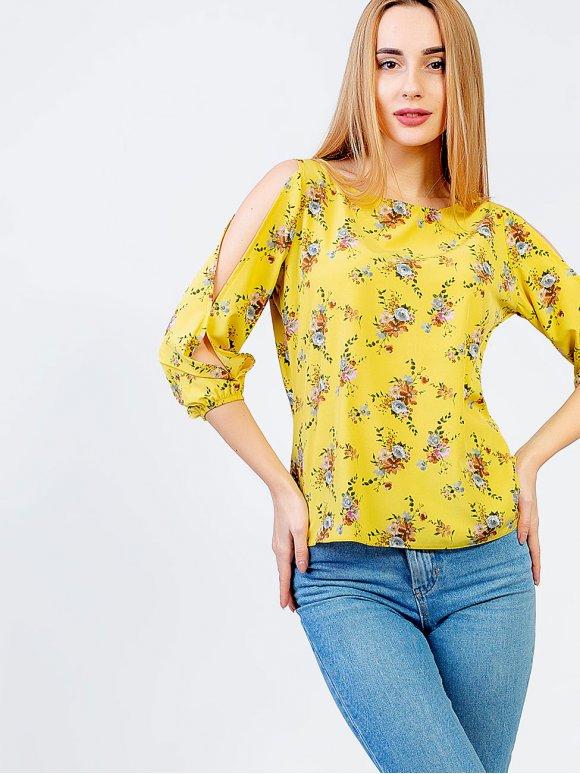 Лёгкая блуза в цветочный принт 2956