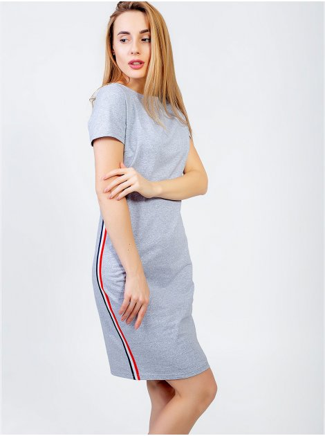 Трикотажное платье с лампасами 2952