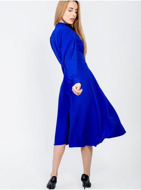 Платье миди с рукавами-фонариками 2928