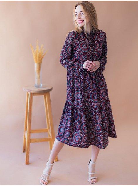 Лёгкое платье в стиле бохо  2937