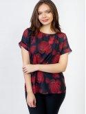 Яркая блуза size+ с коротким рукавом 2967