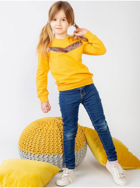 Модный детский свитшот с пайетками 10013