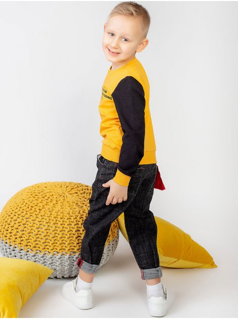 Комбинированная кофта для мальчика с рукавами разного цвета 10009