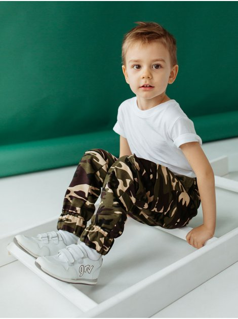 Детские камуфляжные брюки карго 10002