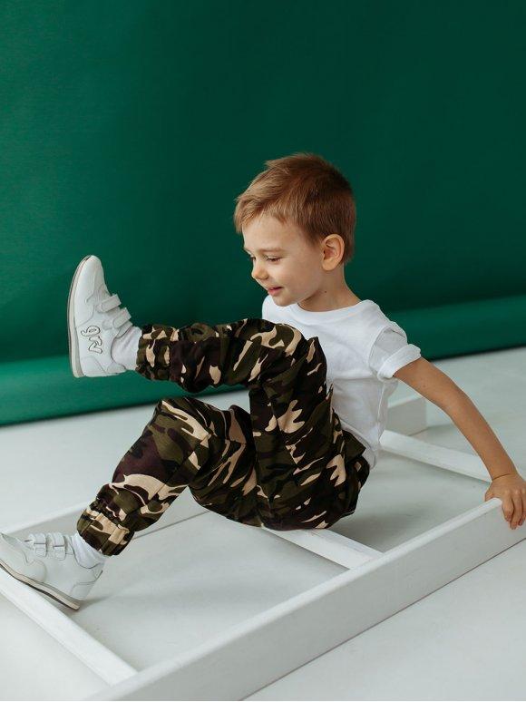 Дитячі камуфляжні брюки карго 10002