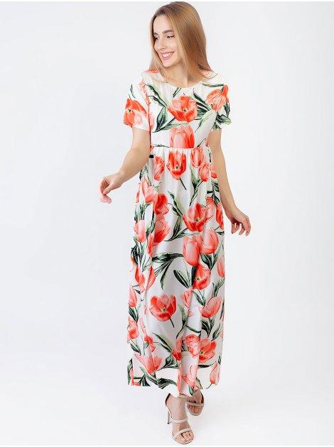 Нежное платье в пол в цветочный принт 2965
