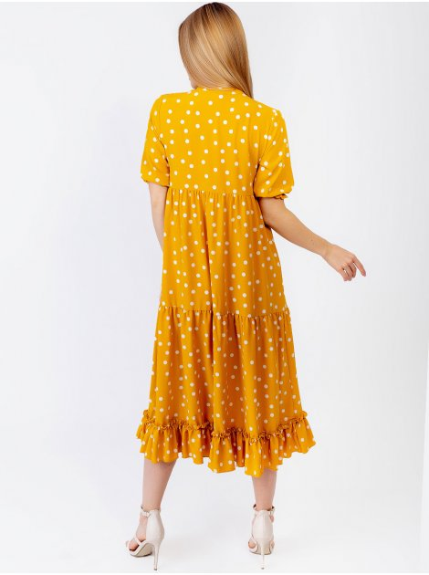 Платье миди с рюшей по низу 2951