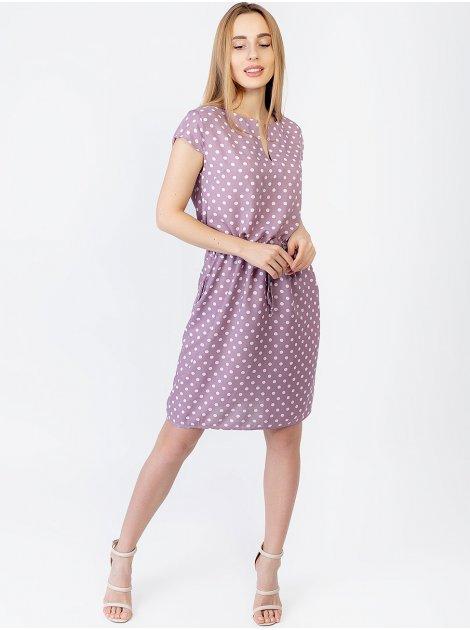 Платье на кулиске с V-образным вырезом 2961