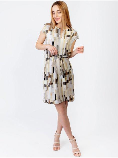 Легкое платье с геометрическим принтом 2971