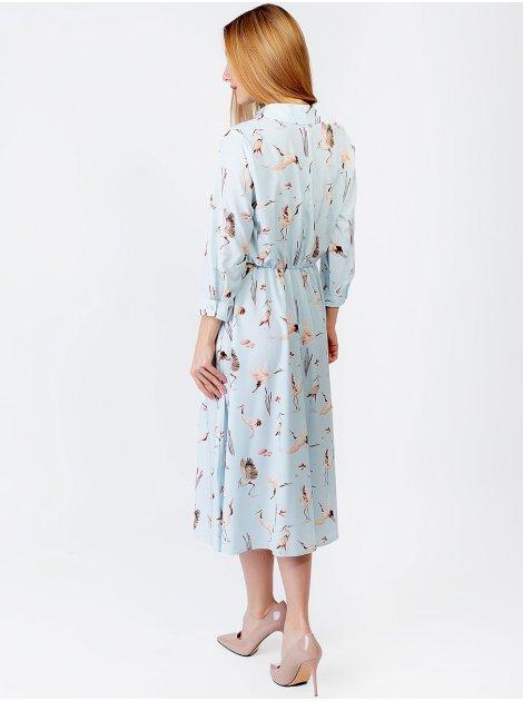 Очаровательное платье миди с журавлями 2968