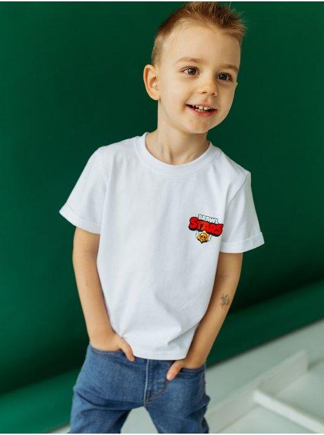 "Детская футболка со значком ""BRAWL STARS"" 10033"
