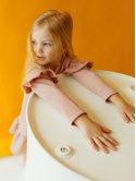 Детское платье с оригинальным принтом и рюшами 10014